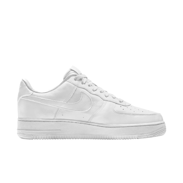 a white Nike x CPFM air force one sneaker on a white background