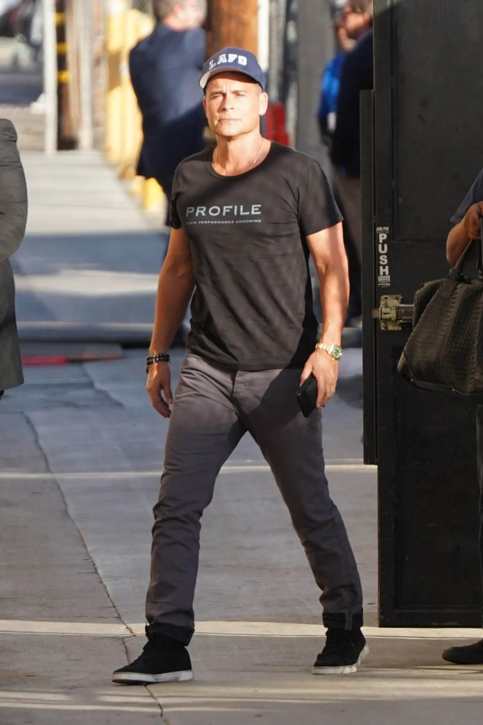 LOS ANGELES CA OCTOBER 30 Rob Lowe is seen on October 30 2019 in Los Angeles California.
