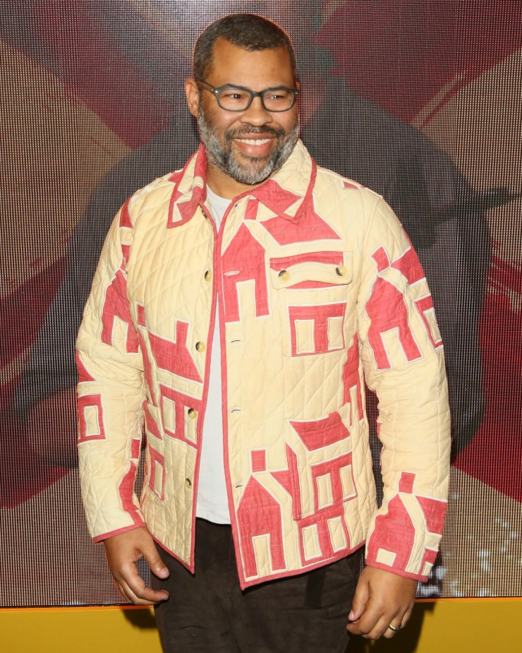 Image may contain Jordan Peele Clothing Apparel Shirt Human Person Sleeve and Long Sleeve