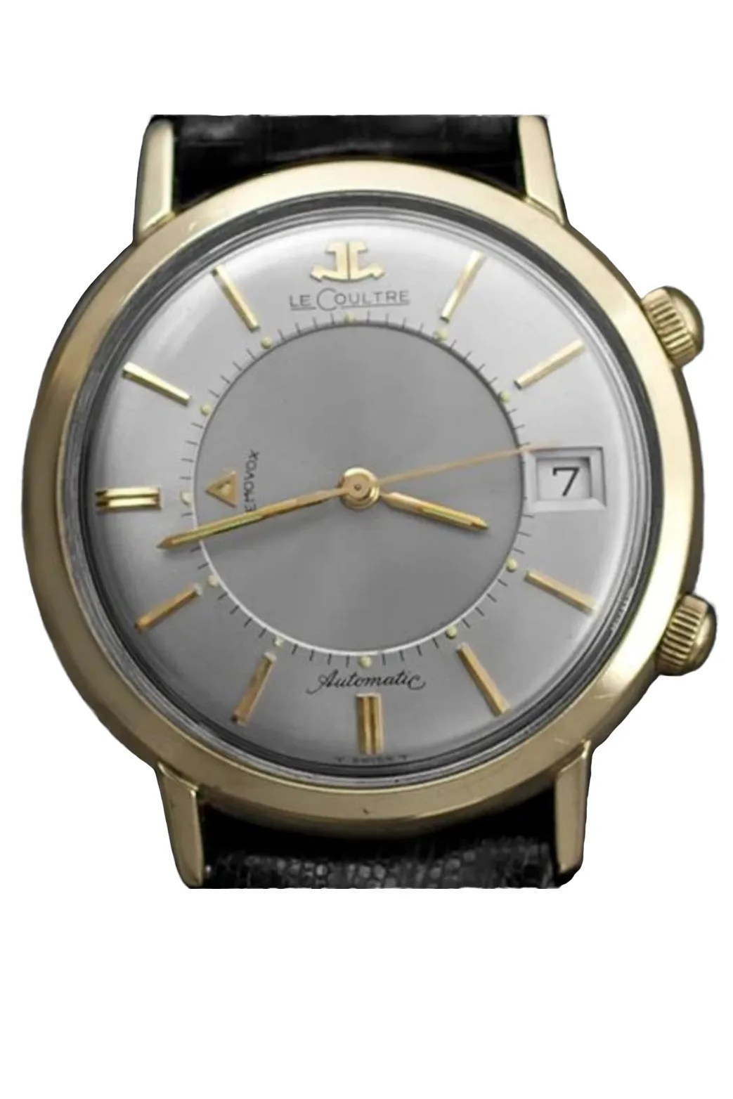 A gold and silver watch