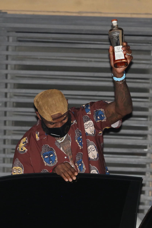 LeBron James celebrates his recent championship win with wife Savannah Brinson at Nobu