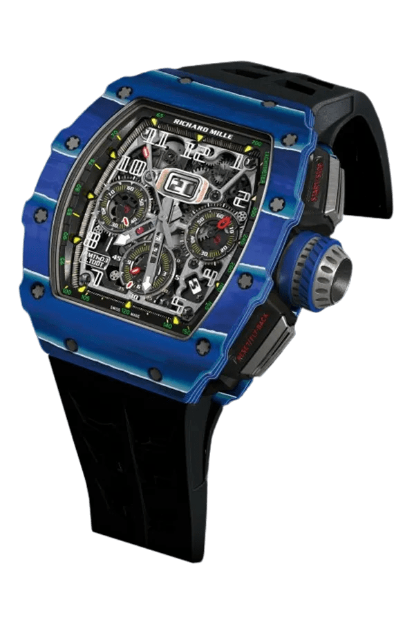 A blue and black watch