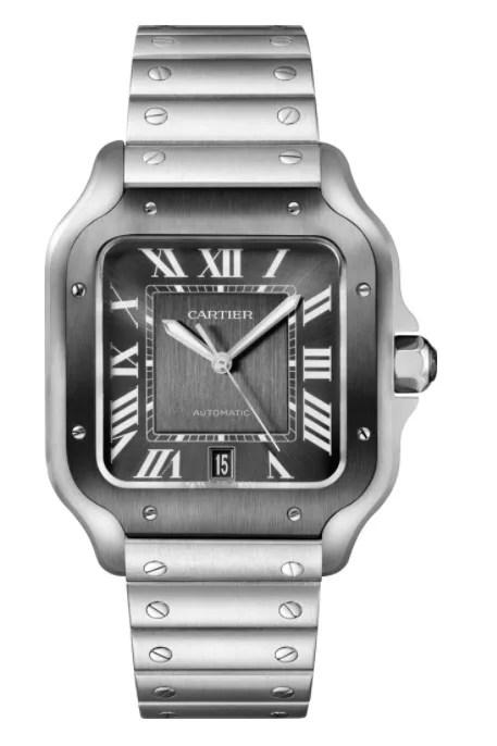 A silver cartier watch
