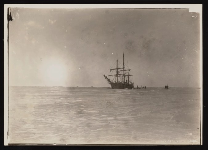 The Belgica caught in the Antarctic pack ice, 1898.