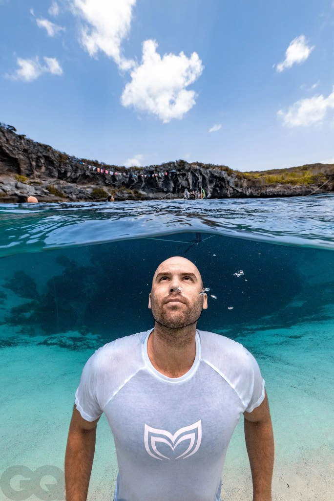 Molchanov wants to create freediving schools in busy cities where it's needed to help people calm down and find balance.