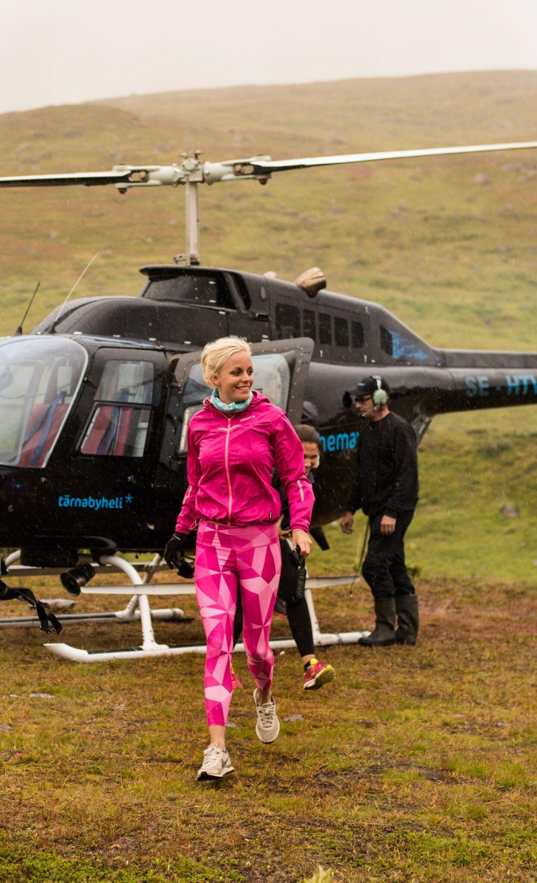 gryn med helikopter