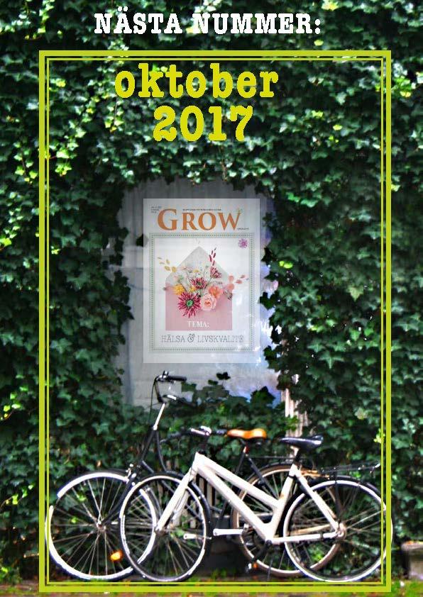 GROW magazine - nästa nummer oktober 2017