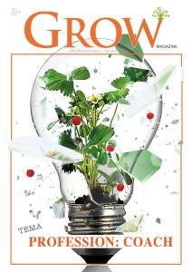 Omslag GROW magazine vol 1 - Tema: Profession Coach