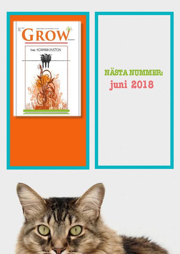 Baksida-GROW 11 nr 2/2018 Tema: Kommunikation