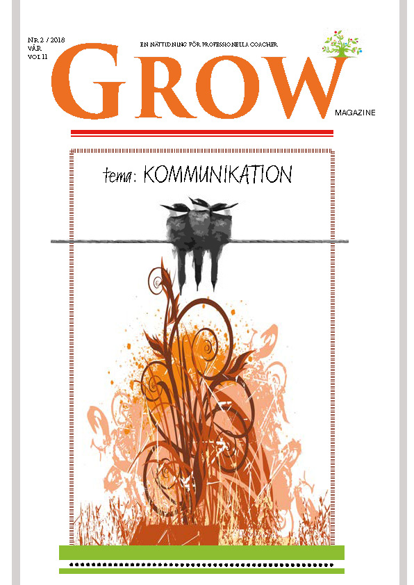 Omslag GROW magazine vol 11 Tema: Kommunikation