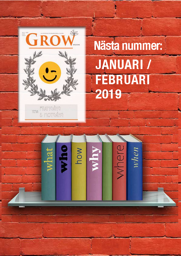GROW magazine vol 13 - Nästa nummer