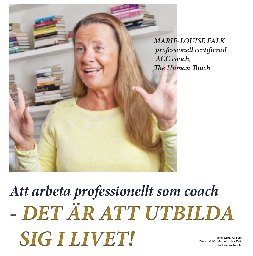 Bild: Marie-Louise Falk, professionell coach