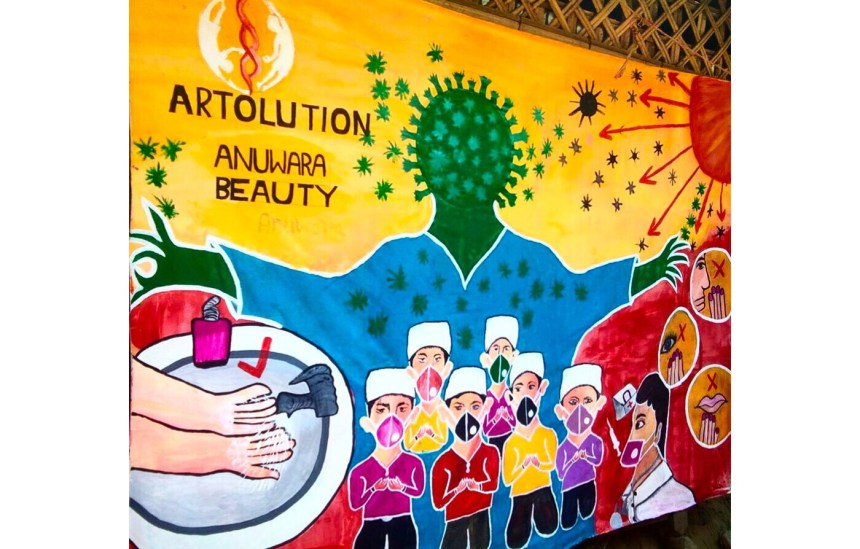 In the world's largest refugee camps, Artolution is using art to fight COVID and gender-based violence and heal the scars of genocide.Bright Colors on a World Canvas