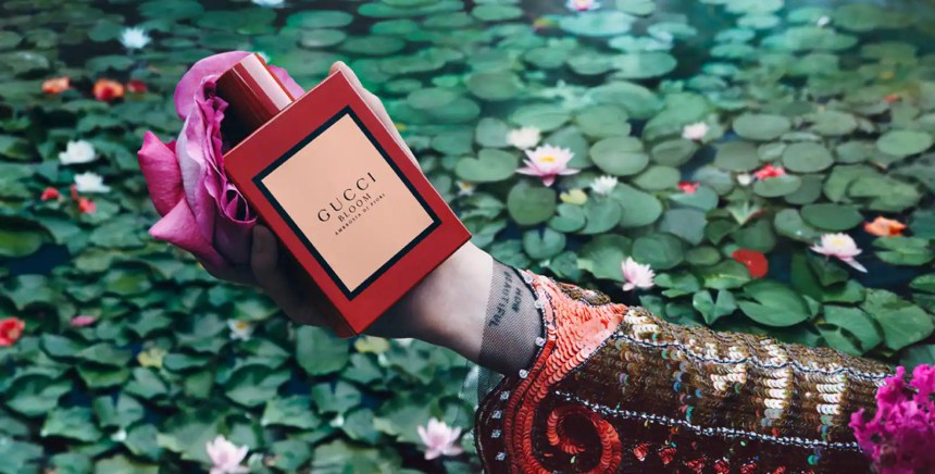 Anjelica Huston, Florence Welch, Jodie Turner-Smith and Susie Cave in the new Gucci Bloom Profumo di Fiori campaign.Inside the Garden of Dreams