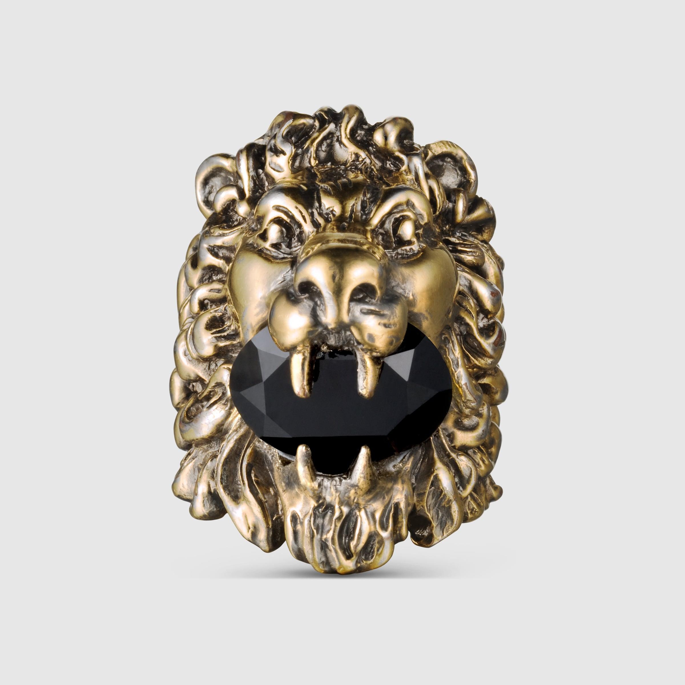 Lion head ring with Swarovski  Gucci Fashion Rings