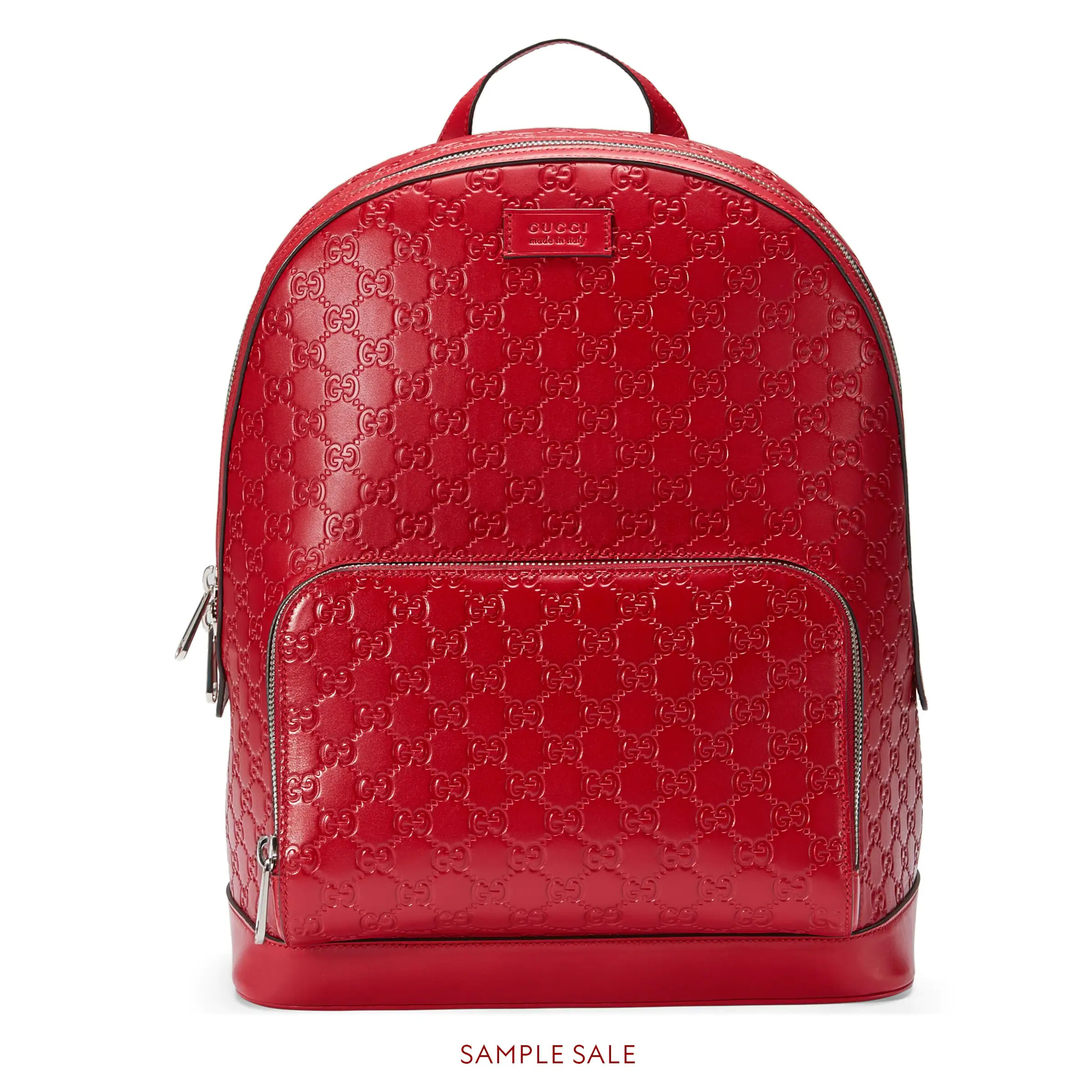 Gucci Signature leather backpack  Gucci Mens Backpacks