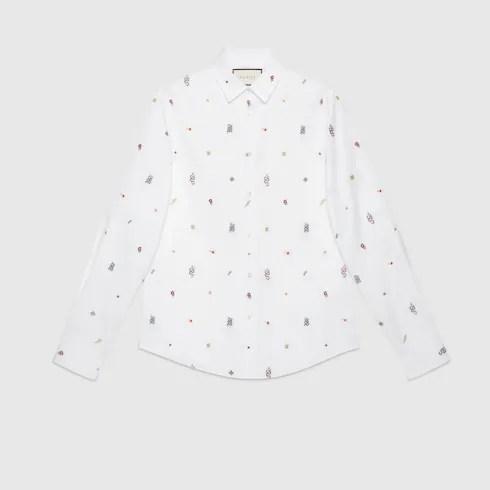 white oxford cotton Symbols Oxford cotton Duke shirt