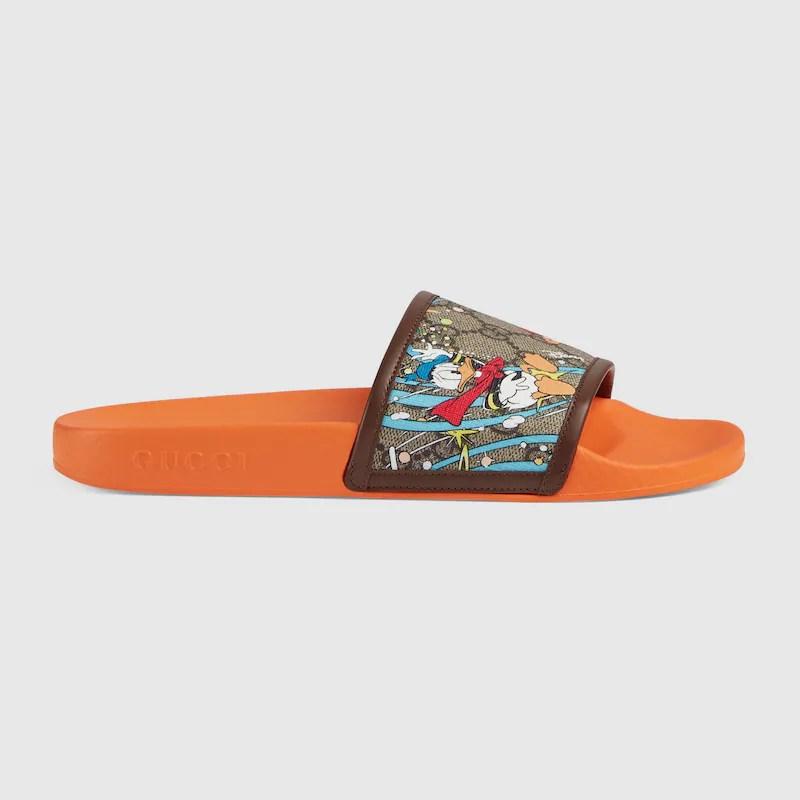Disney x Gucci Donald Duck slide sandal