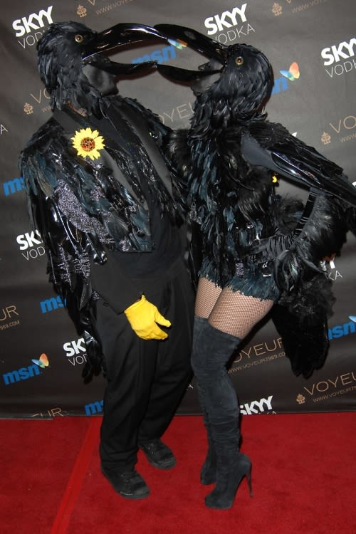 Heidi Klum And Seal Dress Up As Black Crows This Year