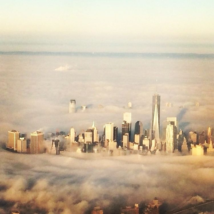 NYC Photo Of The Day Fog Sweeps The City
