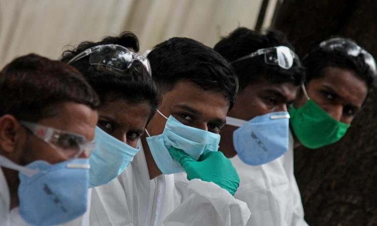 Coronavirus testing in Mumbai, India on 26 Jul 2020.