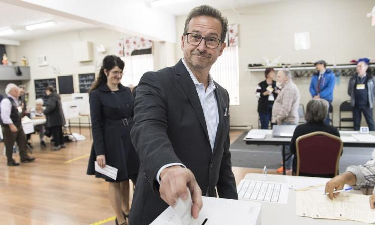 Bloc Quebecois Leader Yves-Francois Blanchet is one of the big winners in today's election, with his party nearly tripling its seat number.