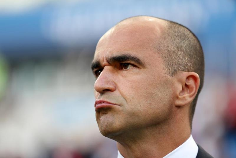 Not good times for Roberto Martinez, head coach of Belgium.