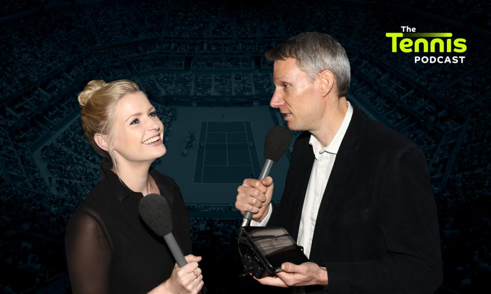 Catherine Whitaker and David Law from the Tennis Podcast