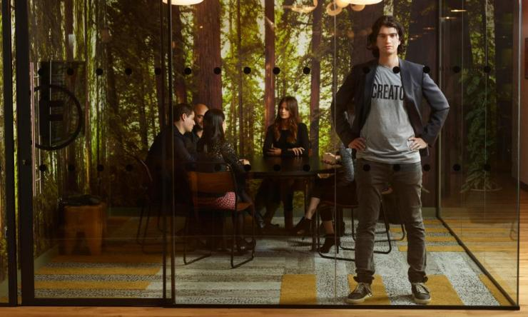 WeWork's Adam Neumann in 2015, when his firm was being praised as a business 'unicorn'.