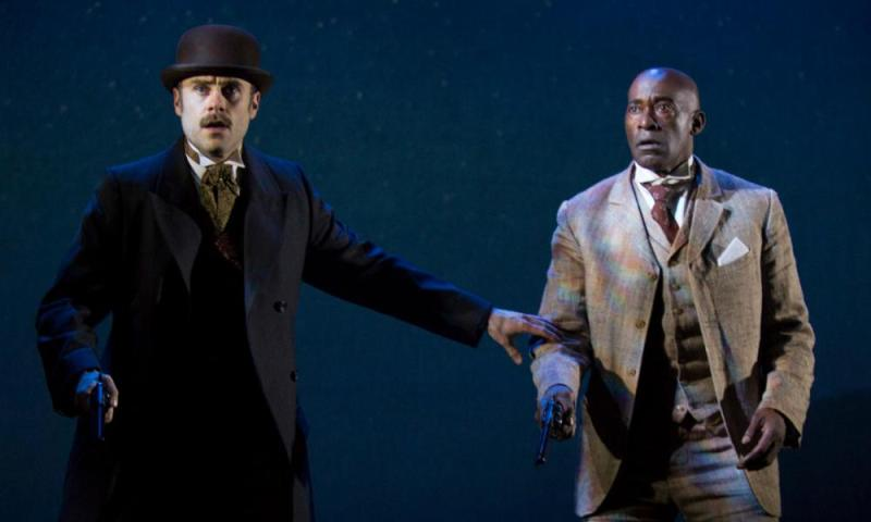 Jay Taylor and Patrick Robinson in Baskerville: A Sherlock Holmes Mystery at Liverpool Playhouse.
