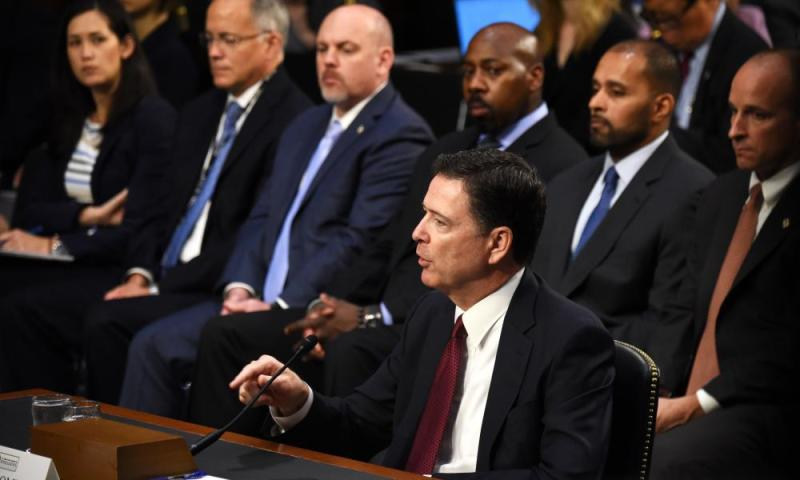 James Comey at the hearing.