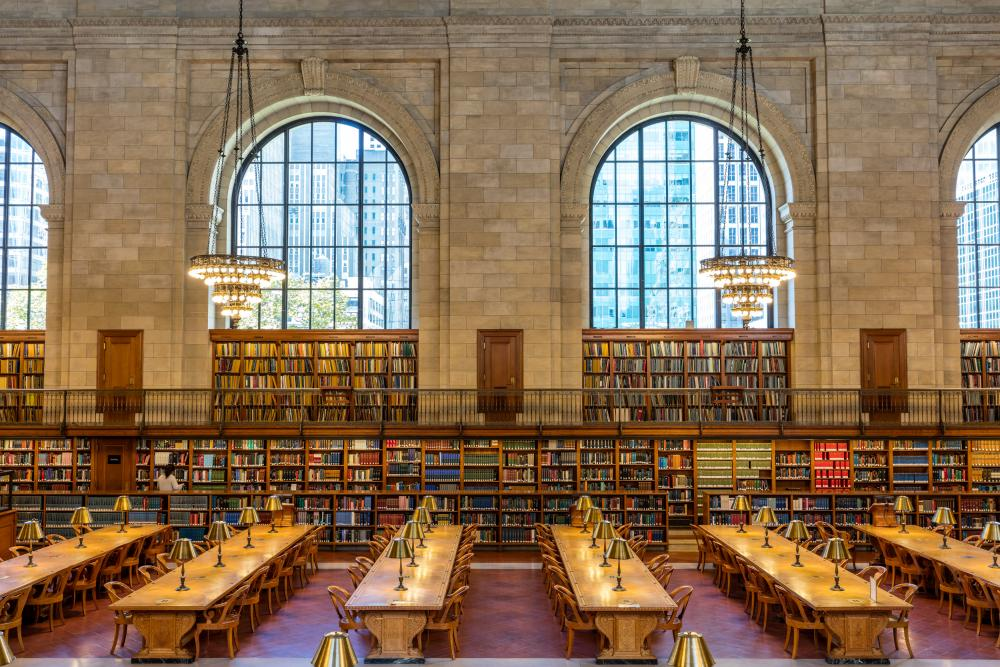 Refurbishment of the rose reading room at New York Public Library