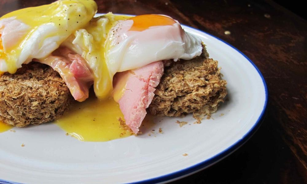 Weetabix eggs benedict