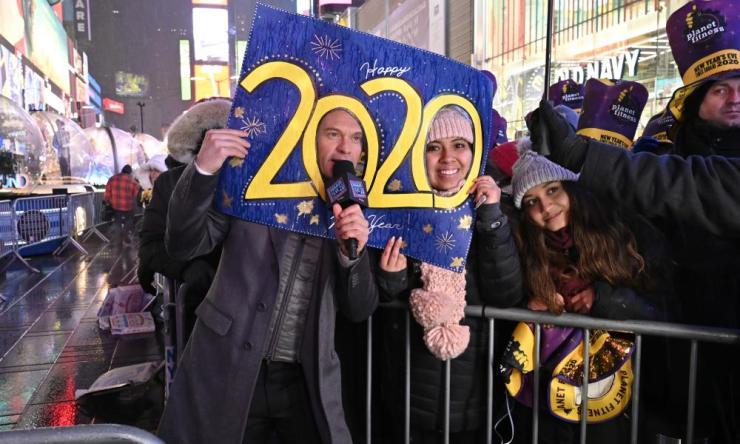 Celebrations in Time Square.