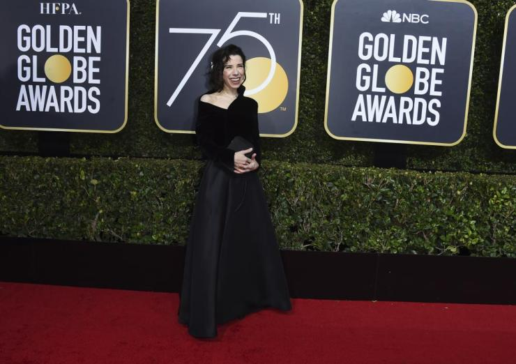 Sally Hawkins arrives at the 75th annual Golden Globe Awards