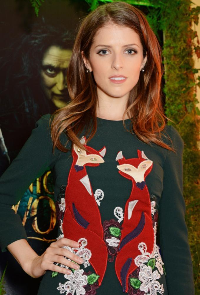 Anna Kendrick in fox jumper.