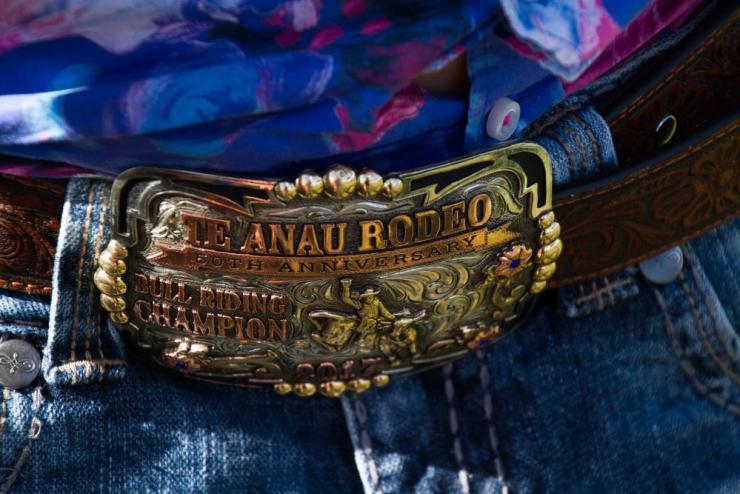 Rodeo belt buckle.