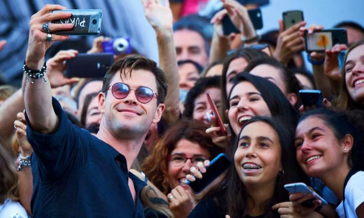 Chris Hemsworth meets fans at the San Sebastian film festival in Spain last year.