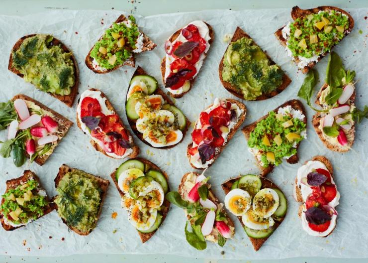 What a spread! Anna Jones's quick toast fixes.
