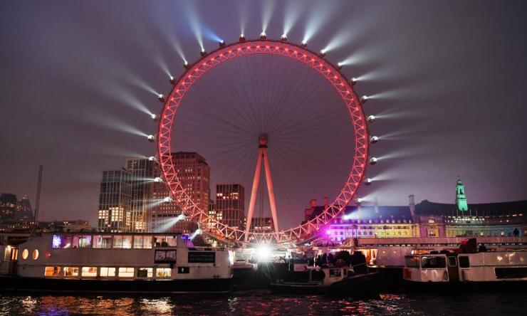 The London Eye ahead of this year's celebrations.