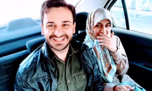 Seyed Mousavi and his fiancee Arefé Fayazbakhsh.