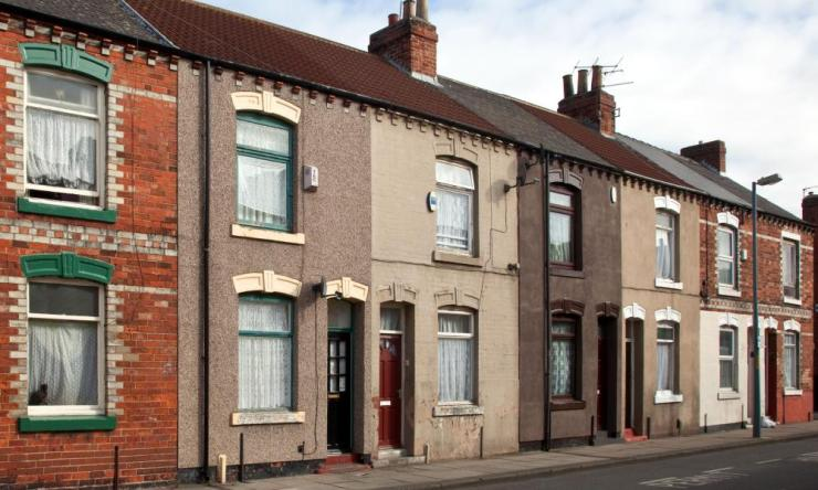 Terraced housing in Middlesbrough