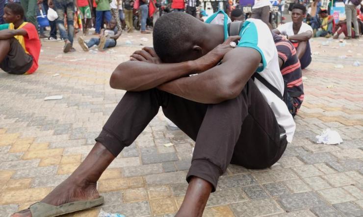 Senegal fans in Dakar