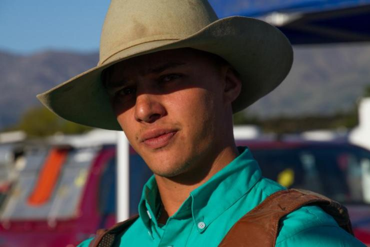 Ernie Rika, a competitor at the Wanaka rodeo.