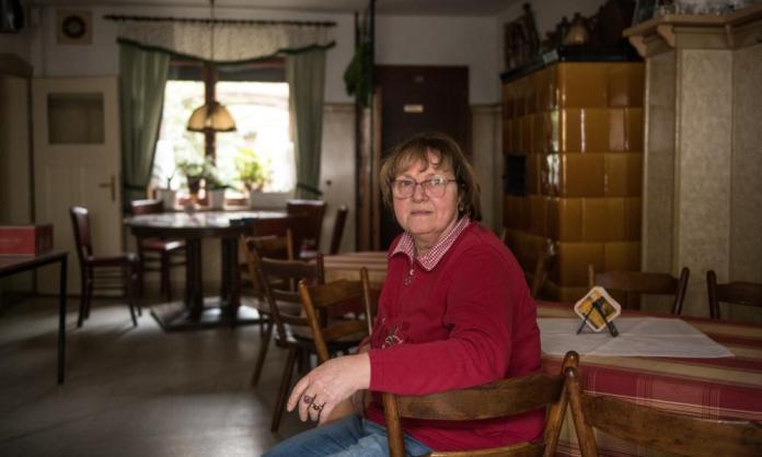 Reinhild Martin, owner of the Zur Erholung restaurant in Mühlrose, a village threatened with excavation