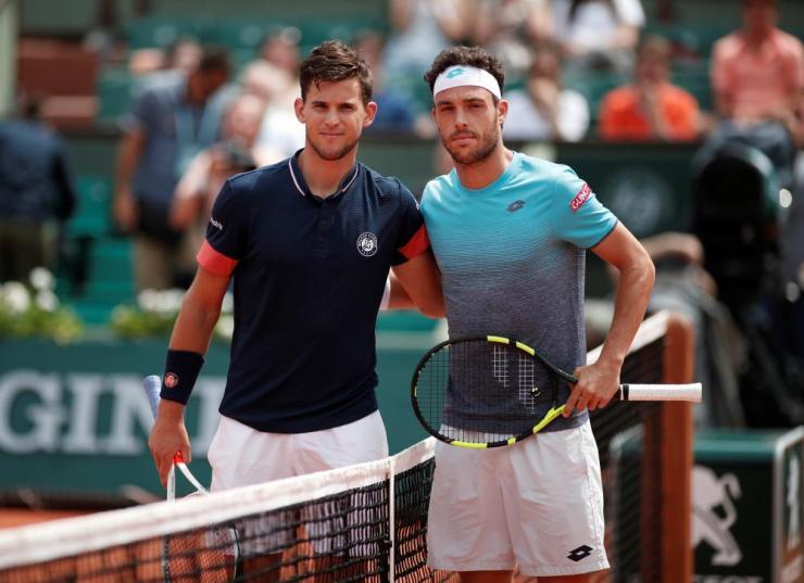 Dominic Thiem and Marco Cecchinato