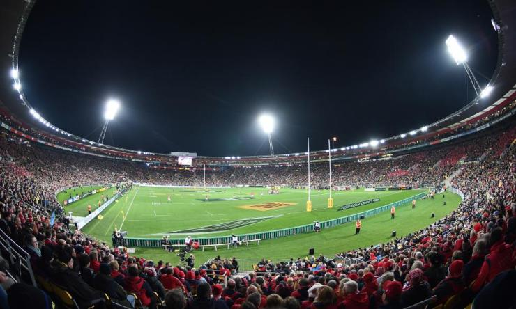 It's a packed house at Westpac Stadium.