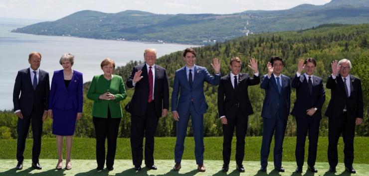 G7 leaders in La Malabie.
