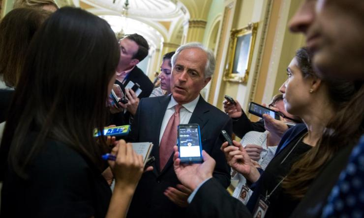 Senator Bob Corker set off a political firestorm when he responded to tweeted attacks by Trump.