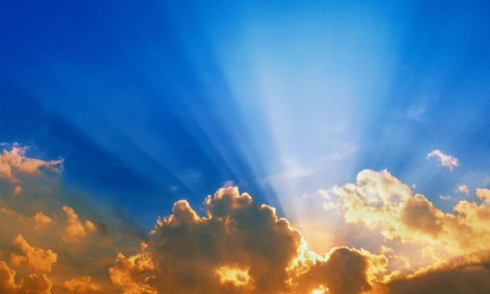 A blue sky